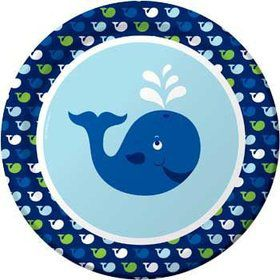 Preppy Blue Ocean Party Dinner Plate (8-pack)