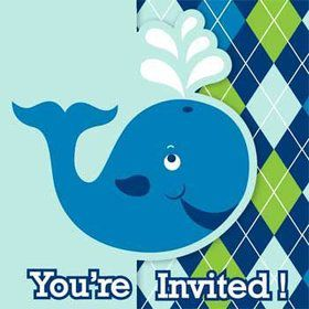 Preppy Blue Ocean Party Invitation (8-pack)