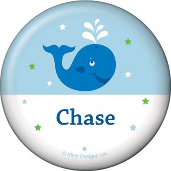 Preppy Blue Ocean Party Personalized Button (each) BB020236