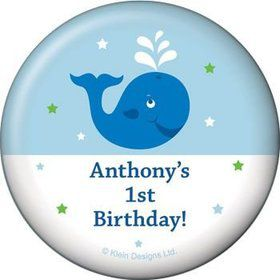 Preppy Blue Ocean Party Personalized Magnet (each)