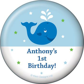 Preppy Blue Ocean Party Supplies Personalized Magnet (each) BB020240