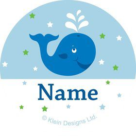 Preppy Blue Ocean Party Personalized Mini Stickers (Sheet of 20)
