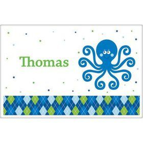 Preppy Blue Ocean Party Personalized Placemat (each)