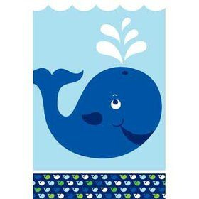 Preppy Blue Ocean Party Table Cover (each)