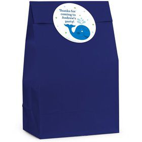 Preppy Blue Ocean Personalized Favor Bag (Set Of 12)
