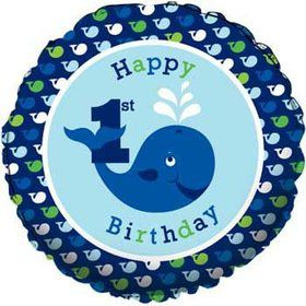 Preppy Boy 1st Birthday Balloon (each)