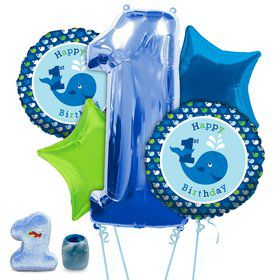 Preppy Boy Ocean 1st Birthday Balloon Kit