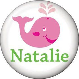 Preppy Pink Party Personalized Mini Button (each)