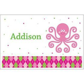 Preppy Pink Party Personalized Placemat (each)