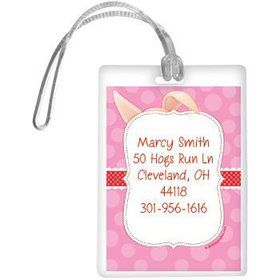 Pretty Pig Personalized Luggage Tag (each)