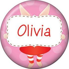 Pretty Pig Personalized Mini Button (each)