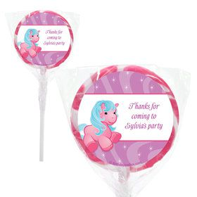 "Pretty Pony Personalized 2"" Lollipops (20 Pack)"