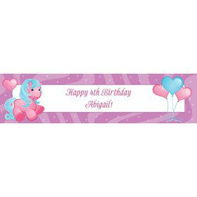Pretty Pony Personalized Banner (each)
