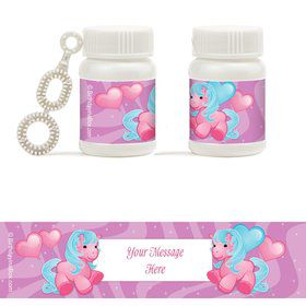 Pretty Pony Personalized Bubbles (18 Pack)