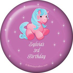 Pretty Pony Personalized Button (each)