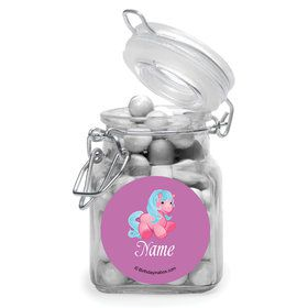 Pretty Pony Personalized Glass Apothecary Jars (10 Count)