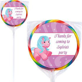 Pretty Pony Personalized Lollipop (pack of 12)