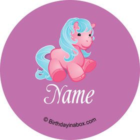 Pretty Pony Personalized Mini Stickers (Sheet of 20)