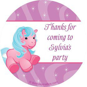 Pretty Pony Personalized Sticker (sheet of 12)