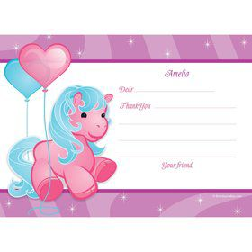 Pretty Pony Personalized Thank You Note