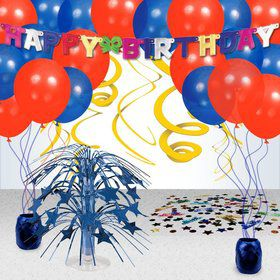 Primary Colors Birthday Decoration Kit
