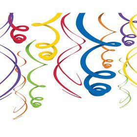 "Primary Plastic 22"" Hanging Decorations, Asst."