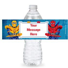 Prime Robot Personalized Bottle Labels (Sheet of 4)