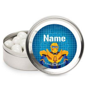 Prime Robot Personalized Candy Tins (12 Pack)