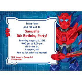 Prime Robot Personalized Invitation (each)