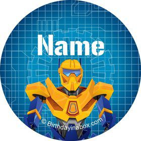 Prime Robot Personalized Mini Stickers (Sheet of 20)