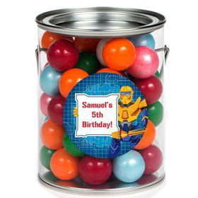 Prime Robot Personalized Paint Can Favor Container (6 Pack)