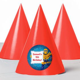 Prime Robot Personalized Party Hats (8 Count)