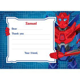 Prime Robot Personalized Thank You Note