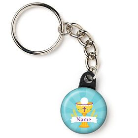 "Primera Communion Personalized 1"" Mini Key Chain (Each)"