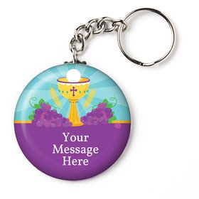 "Primera Communion Personalized 2.25"" Key Chain (Each)"