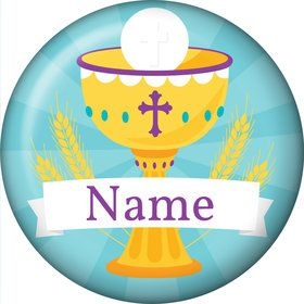 Primera Communion Personalized Mini Button (Each)
