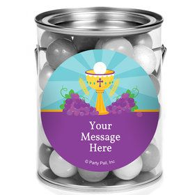 Primera Communion Personalized Mini Paint Cans (12 Count)