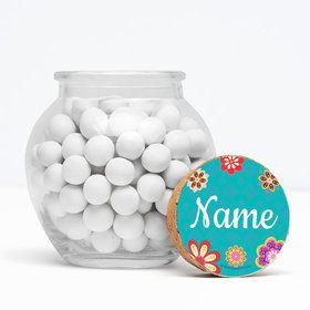 "Princesa Personalized 3"" Glass Sphere Jars (Set of 12)"