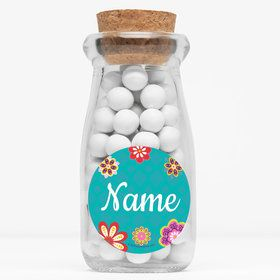 "Princesa Personalized 4"" Glass Milk Jars (Set of 12)"