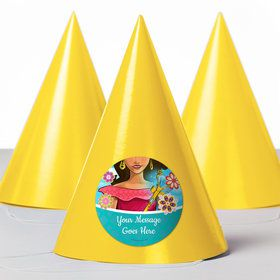 Princesa Personalized Party Hats (8 Count)