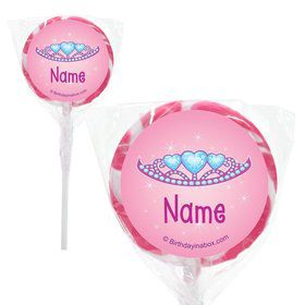 "Princess 1st Birthday Personalized 2"" Lollipops (20 Pack)"