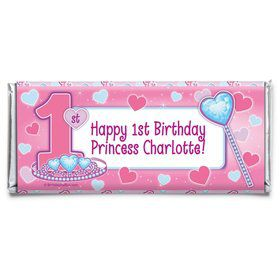 Princess 1st Birthday Personalized Candy Bar Wrapper (Each)