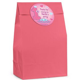 Princess 1st Birthday Personalized Favor Bag (Set Of 12)