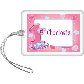 Princess 1st Birthday Personalized Luggage Tag (each)