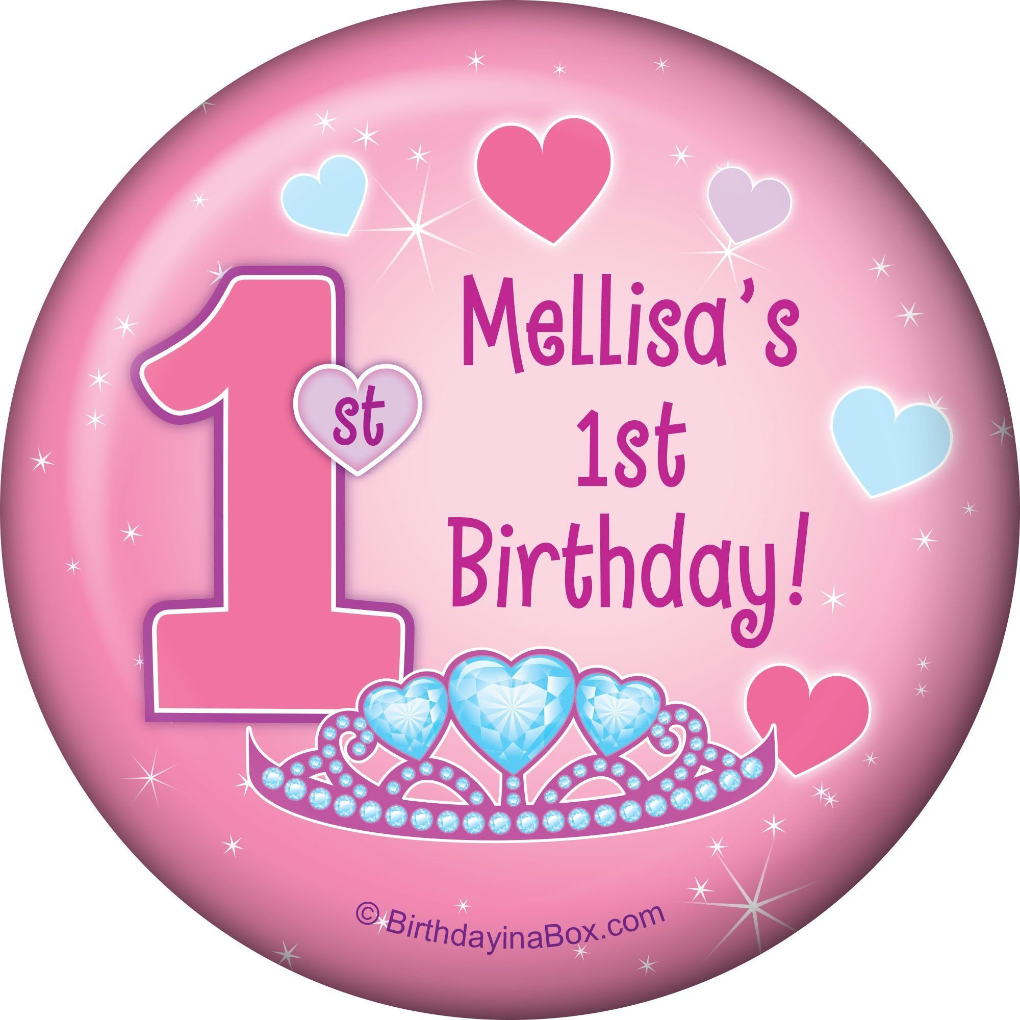 First Birthday Princess Personalized Magnet