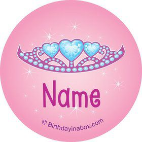 Princess 1st Birthday Personalized Mini Stickers (Sheet of 24)