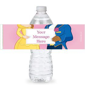 Princess and Beast Personalized Bottle Labels (Sheet of 4)