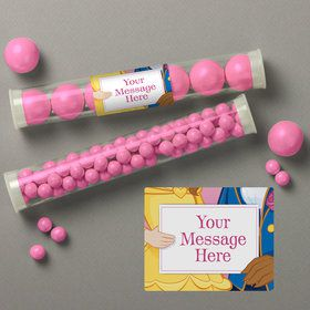 Princess And Beast Personalized Candy Tubes (12 Count)