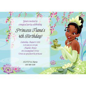 Princess And The Frog Personalized Invitation (Each)