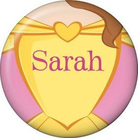 Princess & Beast Personalized Mini Button (each)